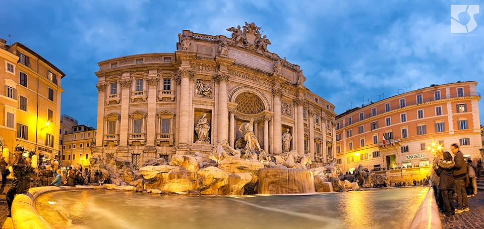 Trevi Fountain at Sunset
