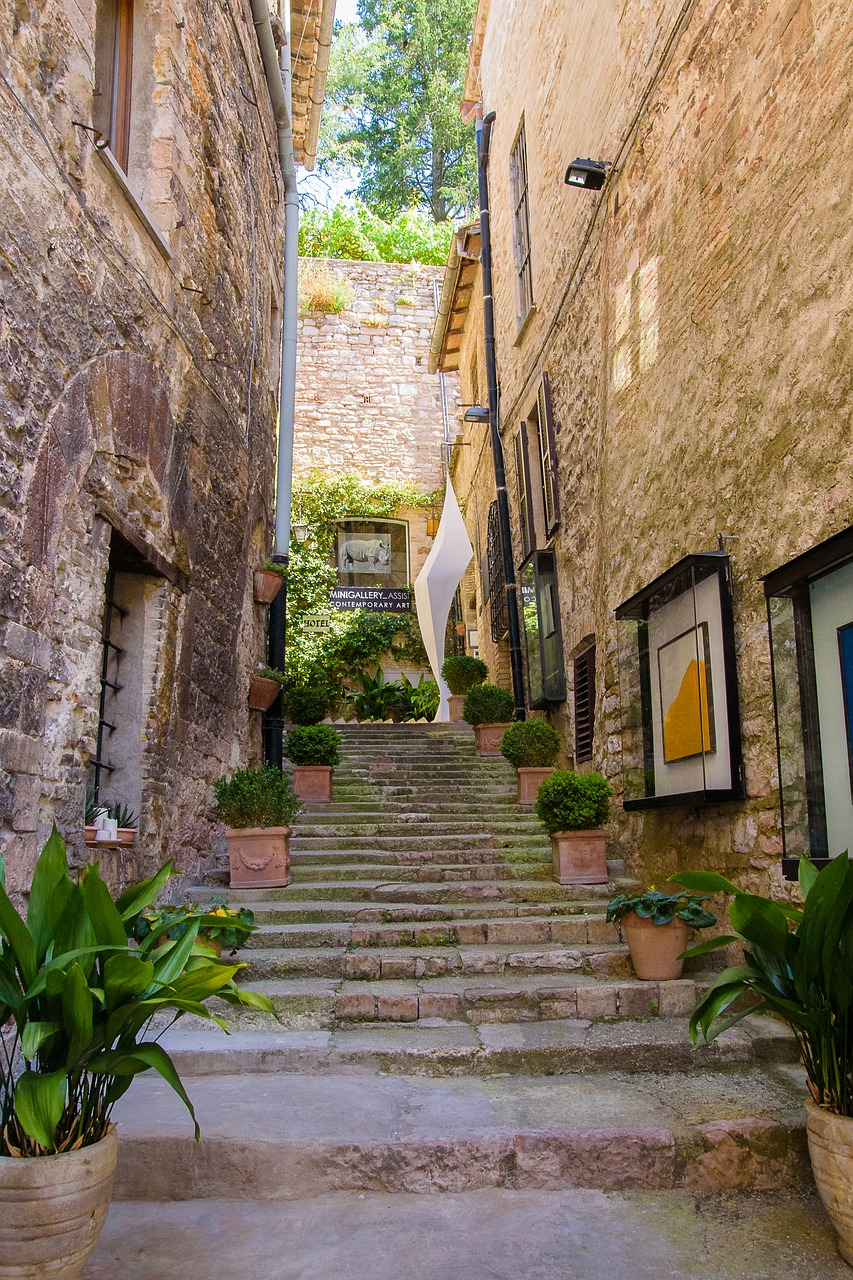 Little lane in Assisi