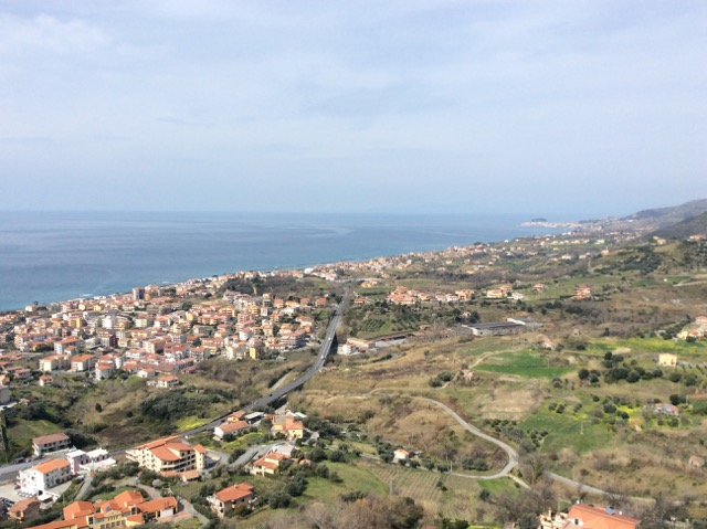 The view of Belvedere, Calabria