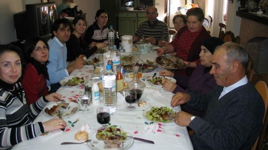 Italian family lunch