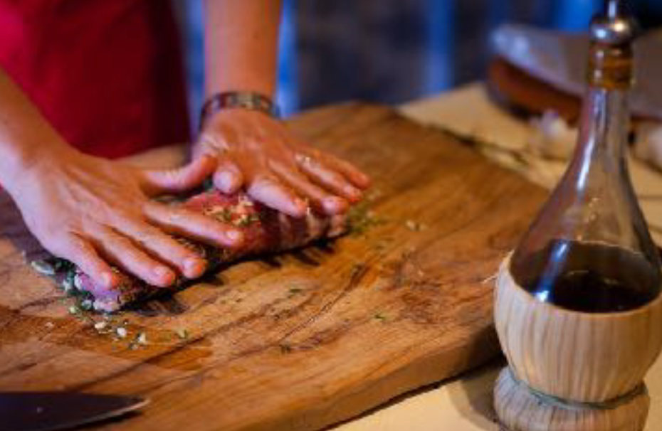 Cooking in Assisi