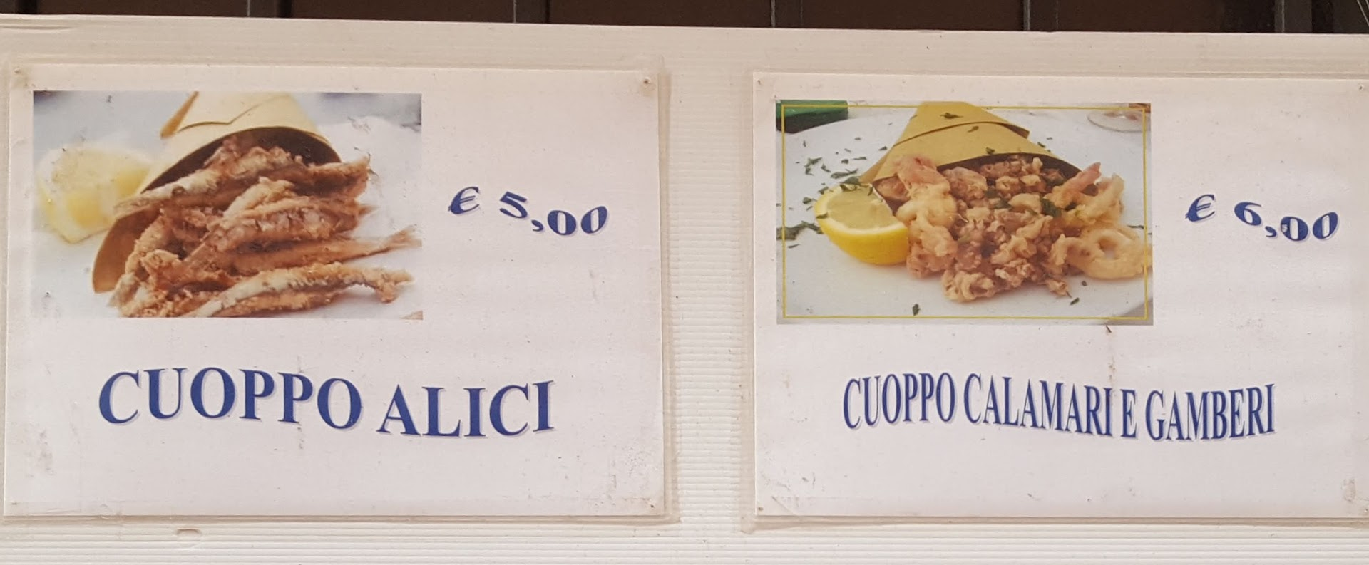 Cuoppo seafood - tradition Southern Italian food.