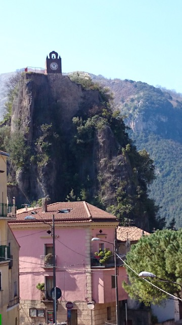 Mountains and villages in Calabria