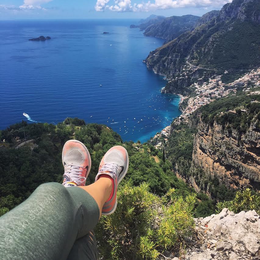 Climbing in Positano