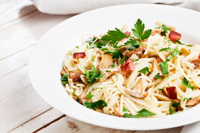Pasta with Mushrooms Dish