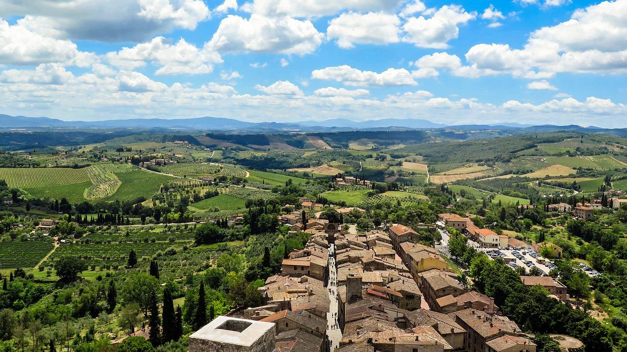 Countryside near San Gimignano
