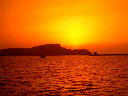 sunset in Alghero