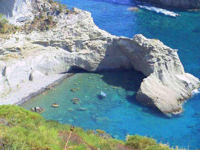 A beach on Ponza Island