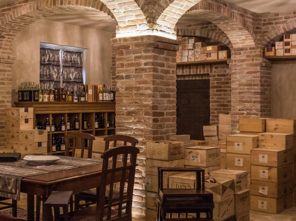 Bovio wine cellar