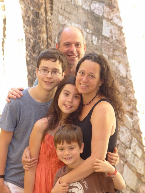 A family in Italy