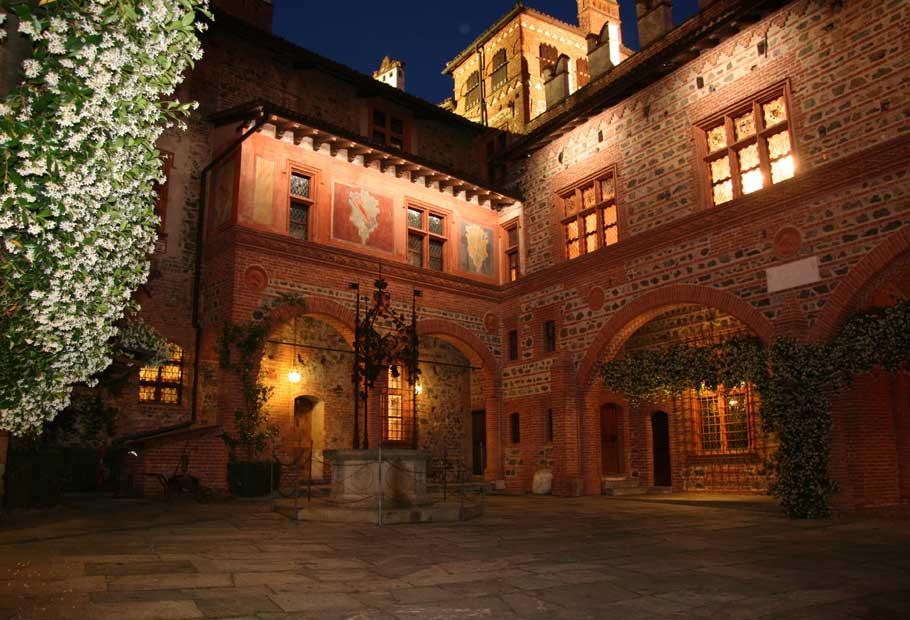 Pavone Castle in Piedmont Italy