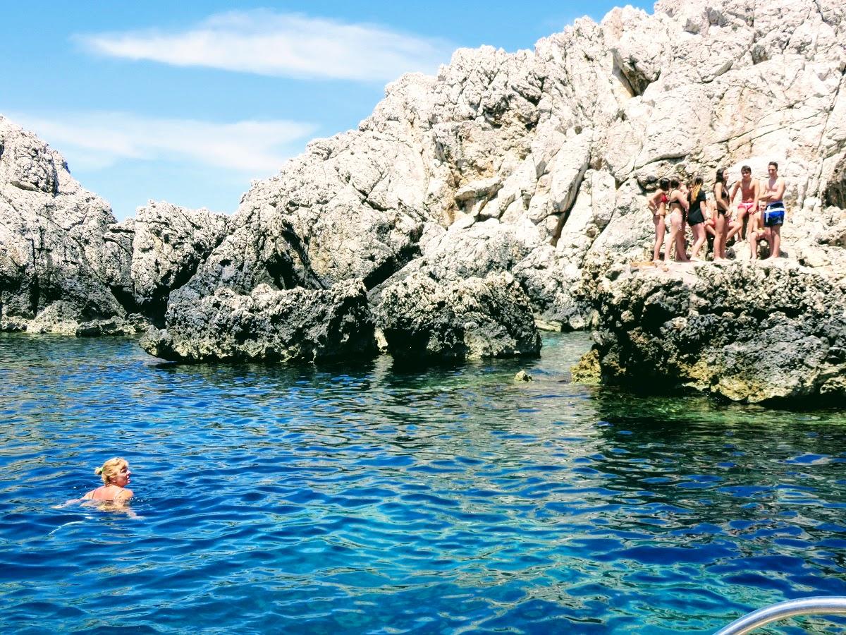 Swimming on the Isle of Capri