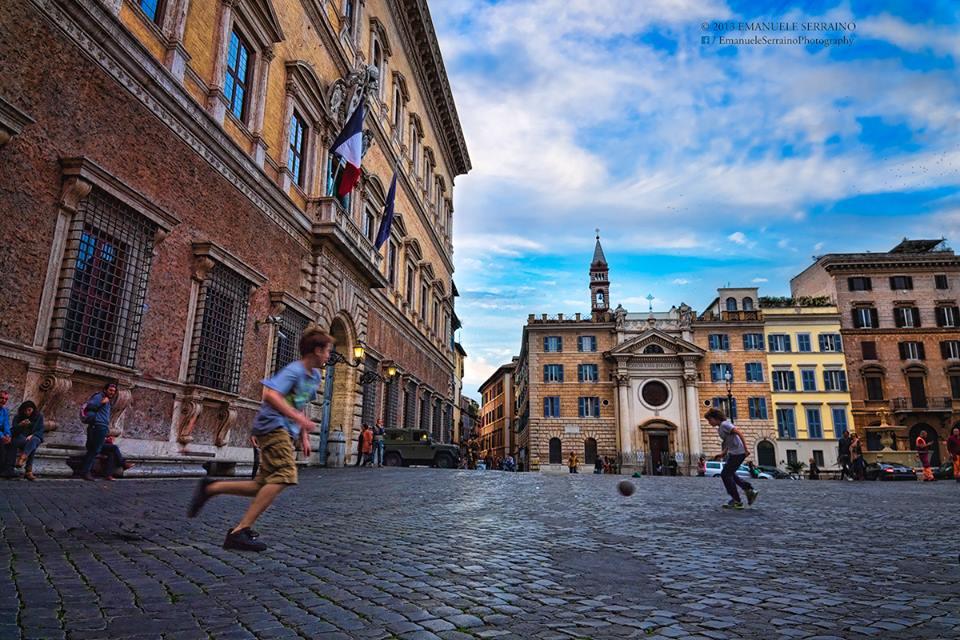 Soccer in Rome