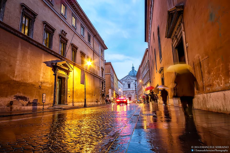 Early Morning Rain in Rome