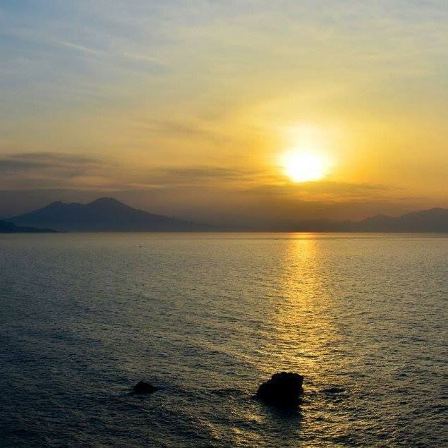 Sunset over the Gulf of Naples