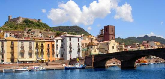 Alghero Sardinia Sea and Castle